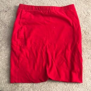Lily White: Red pencil skirt